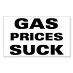 Gas Prices Suck Rectangle Sticker