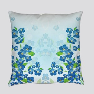 Forget Me Not Flowers Everyday Pillow
