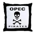 OPEC = Pirates Throw Pillow