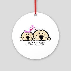 Life's Golden Valentine Keepsake (Round)