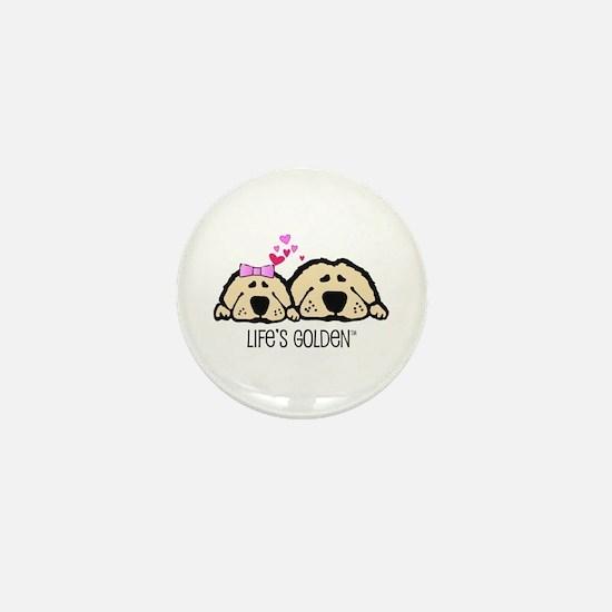 Life's Golden Valentine Mini Button (10 pack)