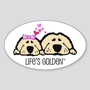 Life's Golden Valentine Oval Sticker
