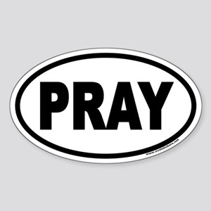 PRAY Euro Oval Sticker