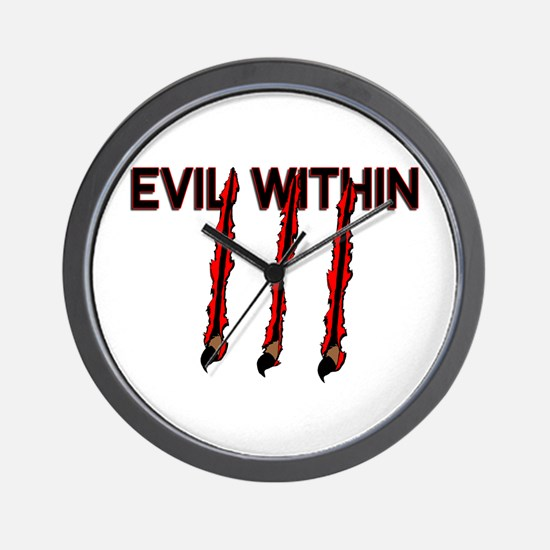Evil Within Wall Clock