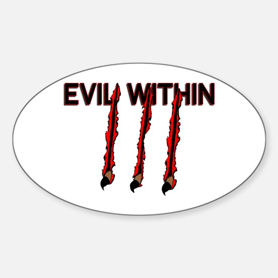 Evil Within Oval Decal