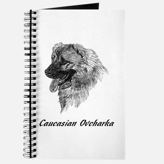 Cute Caucasian ovcharka Journal