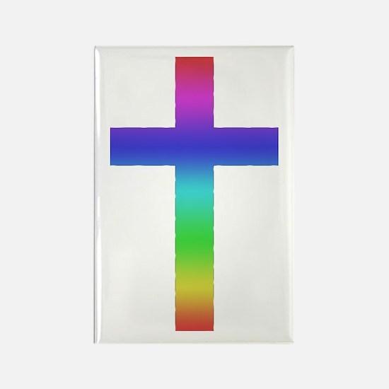 Gay Pride Cross Rectangle Magnet