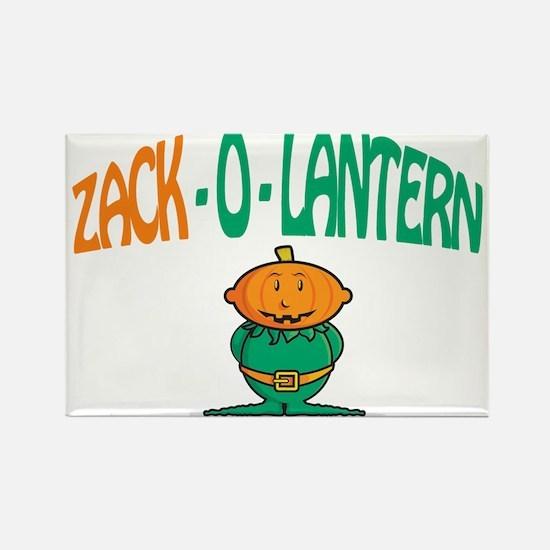 Zack-O-Lantern Rectangle Magnet