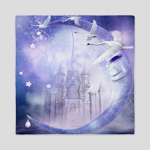 Fairytale Moon Castle Queen Duvet