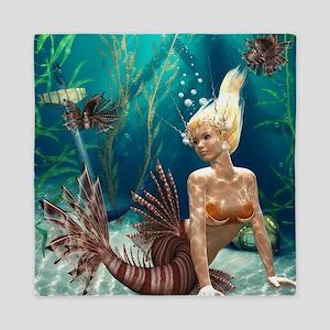 Lionfish Mermaid Queen Duvet