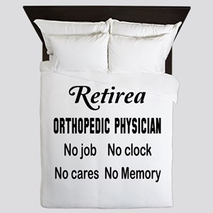 Retired Orthopedic Physician Queen Duvet