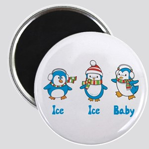 """Ice Ice Baby Penguins 2.25"""" Magnet (10 pack)"""