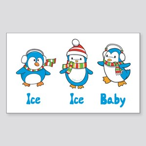Ice Ice Baby Penguins Rectangle Sticker 10 pk)