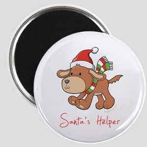 "Santa's Puppy 2.25"" Magnet (10 pack)"