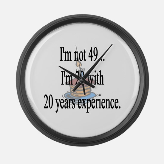 Cute 49 birthday Large Wall Clock