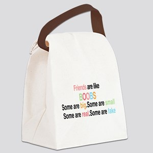 Friends are like boobs Canvas Lunch Bag