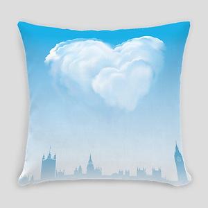 Blue London Love Everyday Pillow