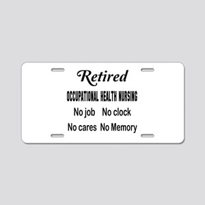 Retired Occupational health Aluminum License Plate