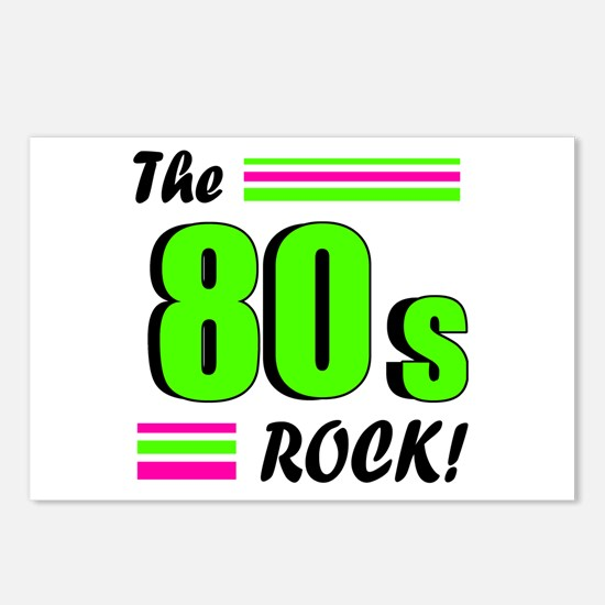 'The 80s Rock!' Postcards (Package of 8)
