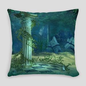 Underwater Ruins Everyday Pillow