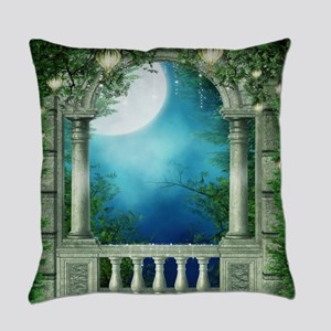 Summer Night Balcony Everyday Pillow