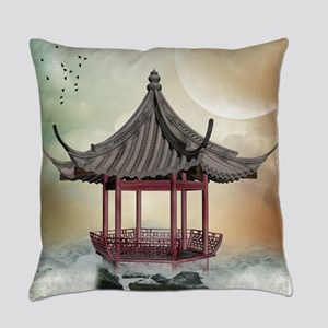 Oriental Gazebo Everyday Pillow
