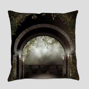 Gothic Arch Balcony Everyday Pillow