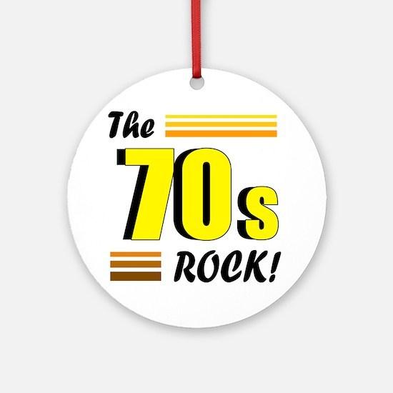 'The 70s Rock' Ornament (Round)