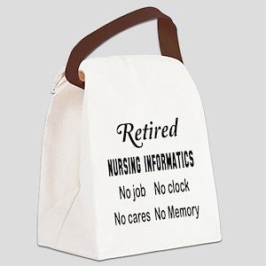 Retired Nursing informatics Canvas Lunch Bag