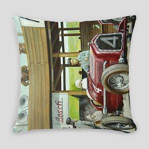 Vintage Car Racing Everyday Pillow