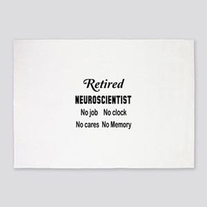 Retired Neuroscientist 5'x7'Area Rug