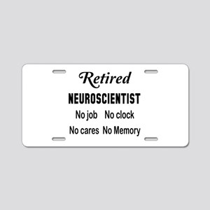 Retired Neuroscientist Aluminum License Plate