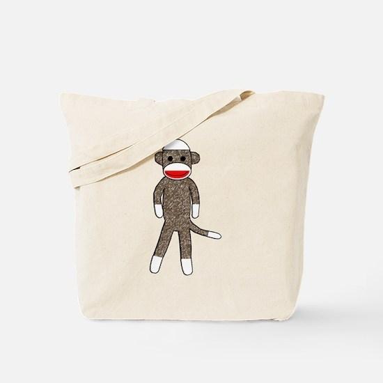 Cute Sock monkey Tote Bag