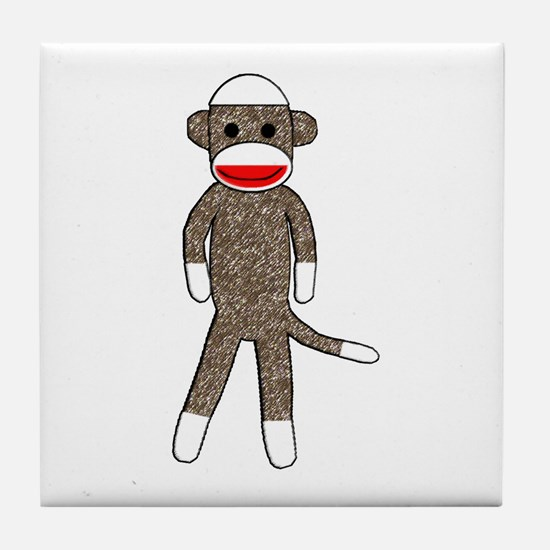 Cute Sock monkey Tile Coaster
