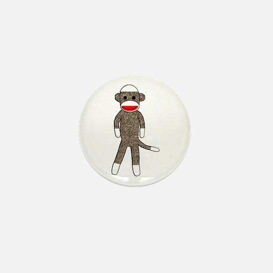 Cute Sock monkeys Mini Button