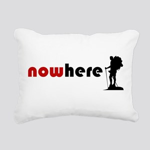 Nowhere (Hiker) Rectangular Canvas Pillow