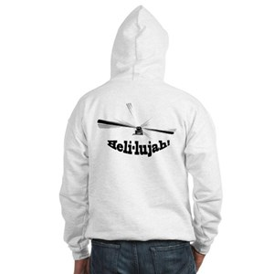 Heli-lujah Helicopter Hooded Sweatshirt
