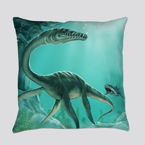 Underwater Dinosaur Everyday Pillow