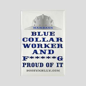 Blue Collar Worker Rectangle Magnet