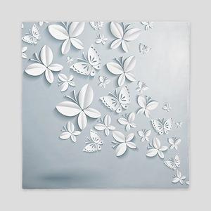 White Butterflies Queen Duvet