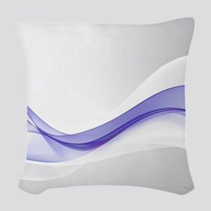 Purple Wave Abstract Woven Throw Pillow