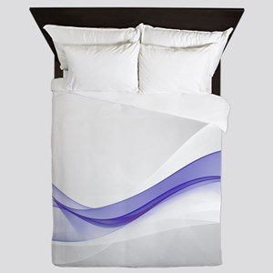 Purple Wave Abstract Queen Duvet