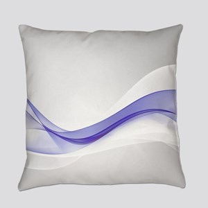 Purple Wave Abstract Everyday Pillow