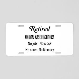 Retired Neonatal Nurse Prac Aluminum License Plate