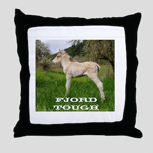 Fjord Horse Tough Throw Pillow