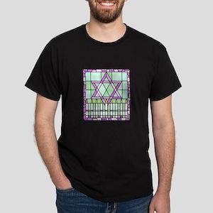 Star of David & Menorah Dark T-Shirt