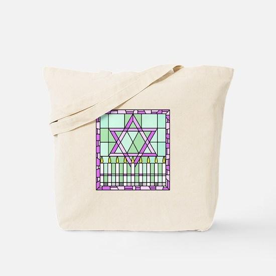 Star of David & Menorah Tote Bag