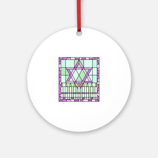 Star of David & Menorah Ornament (Round)