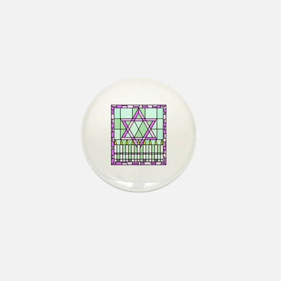 Star of David & Menorah Mini Button