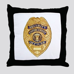 Security Enforcement Throw Pillow